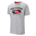 Тениска LEE COOPER GRAPHIC G/MARL T SHIRT